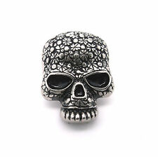"Skull Head Floral Screwback Concho Antique Silver 1"" 3436-21 by Stecksstore"