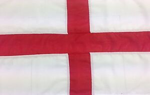 St George sewn flag - Quality outdoor flag-rope and toggle 1-4 yd