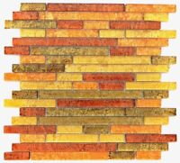 Mosaik Fliese Transluzent Verbund Glasmosaik gold orange |86-07814_f |10 Matten