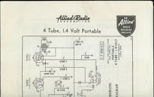 Rare 1939 Allied Radio 4 Tube 1.4 Volt Portable AM Radio Kit Owner's Manual