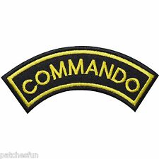 COMMANDO SWAT Team Special Weapons And Tactics USA Police Iron on Patches #0888