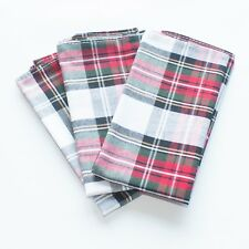 Mens Pocket Square Handkerchief Hanky Christmas Snowflakes Snowfall Red