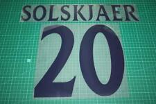 Manchester United 99/00 #20 SOLSKJAER UEFA Chaimpons League Awaykit Nameset