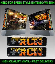 NINTENDO WII KIT Autocollant Skin NEED SPEED COURSE DE RUE & 2 manette stickers