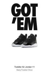 Nike Air Jordan 11 Retro (TD) Size 3c 25th Anniversary Jubilee NIB