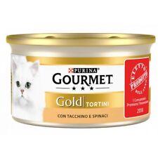 Gourmet Gold Tortini con Tacchino e Spinaci Cibo per Gatti