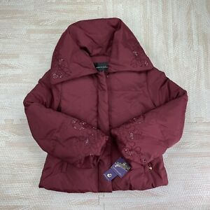 NWT And Defects House Of Dereon Burgundy Jacket Size Large