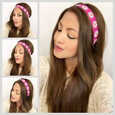 Daisies headband Women's Boho Hair Band Hippie Style Boho Red Daisies Band
