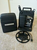 BELL AND HOWELL VINTAGE 8MM PROJECTOR IN CASE MODEL 256 AS IS NO BULB WORKS
