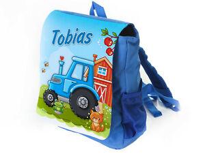 Kinderrucksack mit Name Traktor Kindergartenrucksack Kita Tasche Junge Bauernhof
