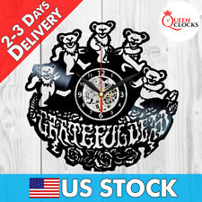Grateful Dead Vinyl Records Clock Gift Steal Your Face American Beauty Art