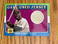 2001 Upper Deck UD Decade 1970's Hank Aaron Atlanta Braves  Jersey ExMt