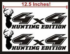 4x4 Decals, GLOSS BLACK Set for Ford F150 Super Duty CAMO Deer Hunting