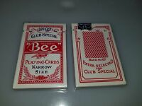 2 ORIGINAL PACKS / DECK RED SEALED VINTAGE BEE PLAYING CARDS NO 92 NO67 BACK NOS
