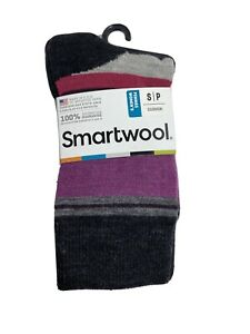 SmartWool Saturnsphere Socks Crew Merino Wool Charcoal NWT Women`s