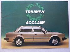 Prospekt Triumph Acclaim, 3.1982, 16 Seiten, deutsche Sprache