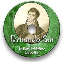 Guitarra Clásica Fernando Sor Pestañas Tablatura canción libro CD de software