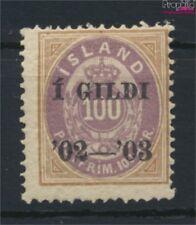 Islande 34A neuf avec gomme originale 1902 émision de surcharge (9077393