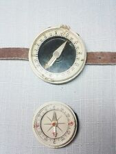 Set of 2 pieces Vintage Russian USSR Military Tourist Pioneer wrist Compass