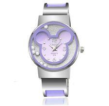6 Color Mickey Mouse Cartoon Wristwatch Cute Fashion Bracelet Watch For Girls