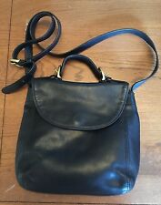 Coach vintage CROSSBODY/HANDBAG purse in BLACK LEATHER 4158