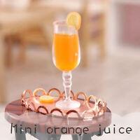 1:12 Dollhouse Miniature Drink Orange Juice Cup Doll Kitchen Food Accessories YK
