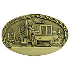 Logging Truck Engravable Belt Buckle OBM153 IMC-Retail