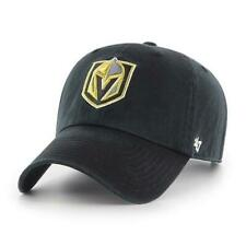 LAS VEGAS GOLDEN KNIGHTS NHL BLACK UNSTRUCTURED DAD CAP HAT NEW! CLEAN UP '47