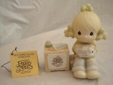 Precious Moments 1983 Collectors Club Join In On The Blessings E-0404 Cross Mark