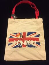 PRIMARK London Tote Bag Bulldog Union Jack Crown England UK Atmosphere