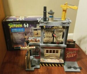 Spawn Alley Action Playset 100% Complete w Box & Comic Book McFarlane Toys 1994