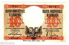 Albanie ITALIE  ALBANIA ITALY Billet 10 LEK  ND 1940 P11  DOUBLE AIGLE  NEUF UNC