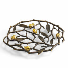 Pomegranate by Michael Aram Natural and Oxidized Brass Trivet - New