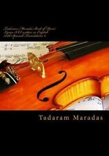Tadaram Maradas Book of Poem Lyrics III, Written in English with Spanish...