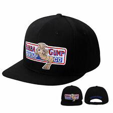 Bubba Gump Hat Forrest Gump Costume Embroidered Snapback Baseball Hat  Black