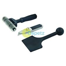 3 Piece Carpet Fitting Tool Kit For Cutting, Rolling And Fitting Carpets
