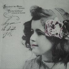 4 x singolo di carta Tovaglioli Decoupage CRAFT TAVOLA FESTA-Vintage Girl PEOPLE -22