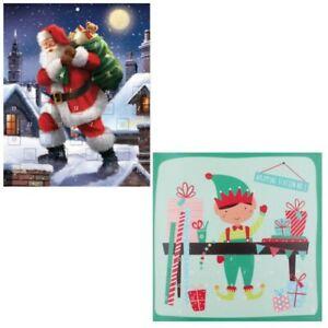 Paper Christmas Advent Calendar - 24 Windows - Santa or Elf Design