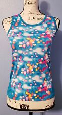 Sketchers active blue pink multicolored print tank 14/16