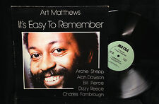 Art Matthews-It's Easy To Remember-Matra 1001-DIZZY REECE