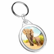 1 x Elephant Family Love Animal - Keyring IR02 Mum Dad Kids Birthday Gift #14585
