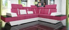 Eck Leder Textil Stoff Couch Sofa Garnitur Wohnlandschaft Polster Ecke Neu LMII