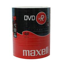 100x NEW Maxell Blank DVD-R 16x 4.7GB 120m DVDR DISCS - Shrink Wrap Pack