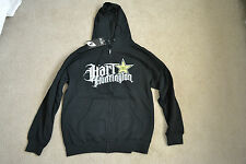 NEW H&H MIGHTY ZIP  ROCKSTAR HOODY SWEATSHIRT MX ATV BMX LARGE
