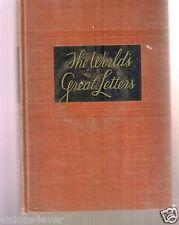 THE WORLD'S Great Lettere Libro Copertina Rigida 1940 Simon & Schuster