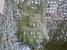 "AR500 10""x12"" Curved TAC Steel Plates & Condor OD Carrier & All Molle Shown"