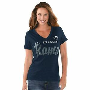 G-III 4her Los Angeles Rams Women's Game Day V-Neck T-Shirt - Navy