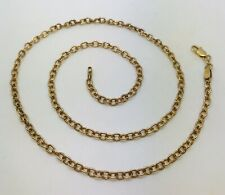 """16 1/4"""" long 9ct yellow gold Belcher chain weight 6.05 grams Trigger Value £335"""