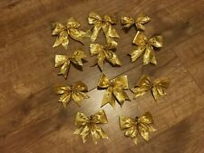 Gold Bows set of 11