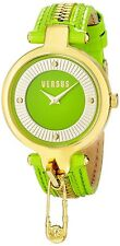 Versus by Versace Women's SOB050014 KEY BISCAYNE Gold IP Green Leather Watch